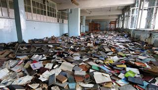 Cmentarzysko (nie)zapomnianych książek. Potęga sztuki.